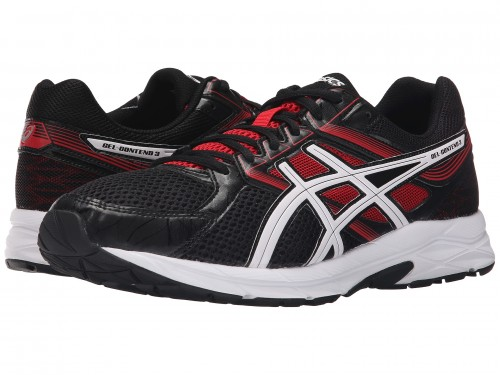 ASICS GEL-Contend 3 (Onyx/Snow/Racing Red)