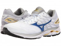 Mizuno Wave Rider 20 (White/Strong Blue/Cyber Yellow)