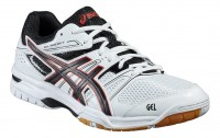 ASICS GEL-Rocket 7 (White/Black/Vermilion)