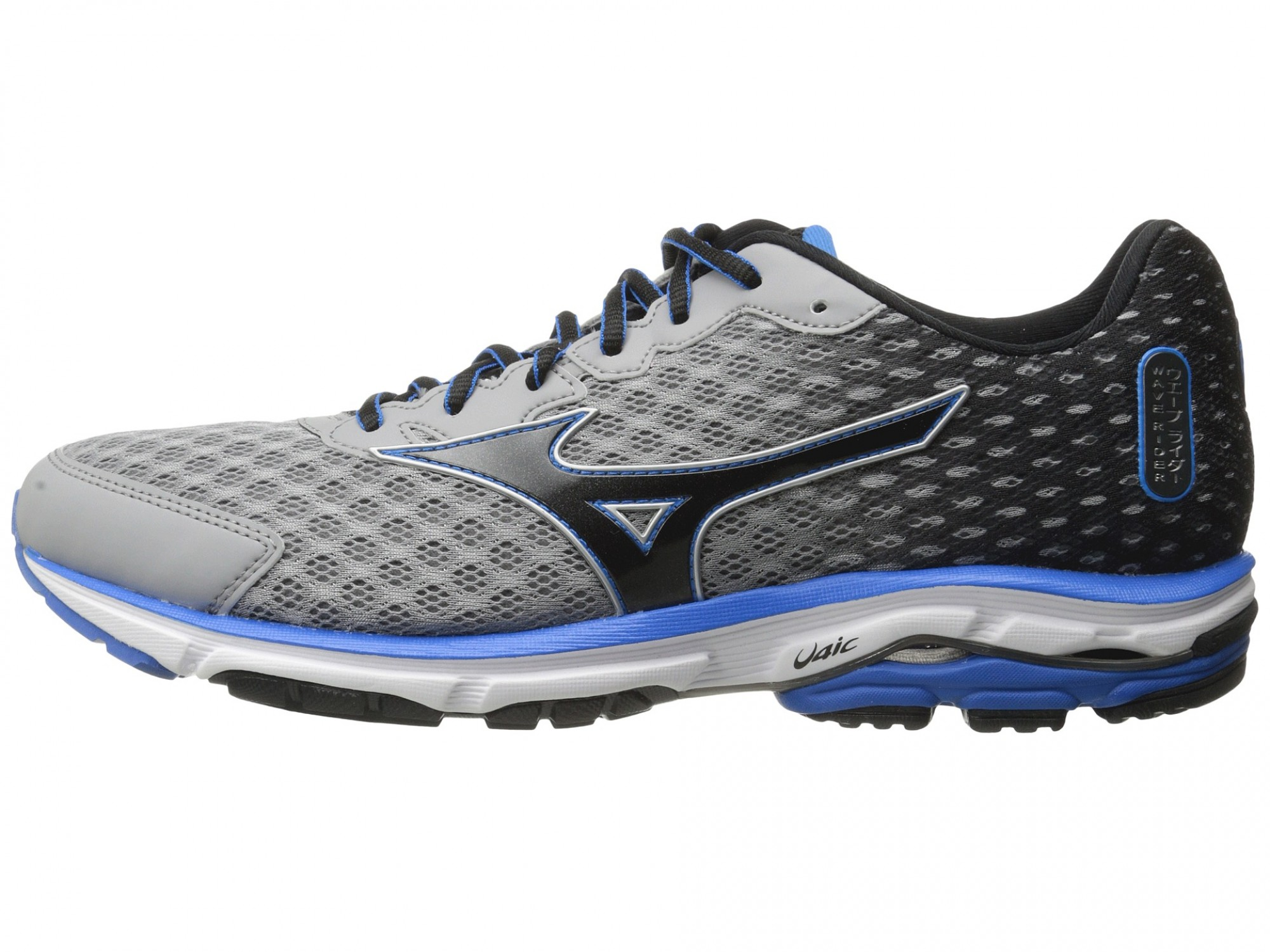 Mizuno Wave Rider 18 (Alloy/Black/Electric Blue Lemonade ...
