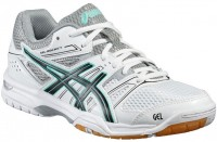 Женские Asics GEL-Rocket 7 (White/Black/Cockatoo)