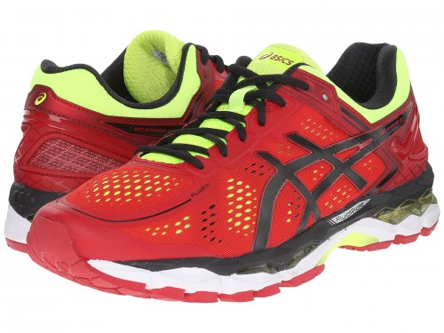ASICS GEL-Kayano® 22 (Red Pepper/Black/Flash Yellow)