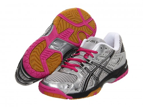 Женские ASICS Gel-Rocket 6 (Silver/ Black/ Pink)