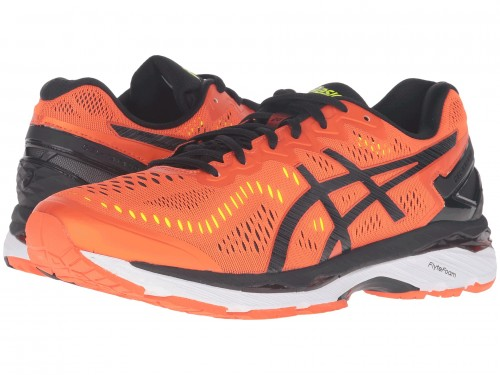 ASICS Gel-Kayano 23 (Flame Orange/Black/Safety Yellow)