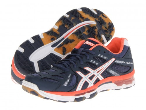 Женские Asics GEL-Volleycross Revolution (Navy/ White/ Neon Coral)