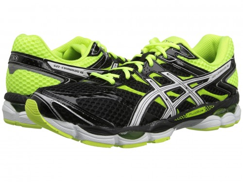 ASICS Gel-Cumulus 16 (Black/White/Flash Yellow)