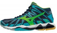 Mizuno Wave Tornado X2 MID (Dress Blues / Green Gecko / Peacock Blue)