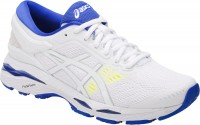 Женские ASICS Gel-Kayano 24 (White/Blue Purple/Safety Yellow)