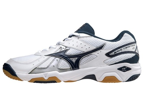 Mizuno Wave Twister 4 (White/Dress Blue/Silver)