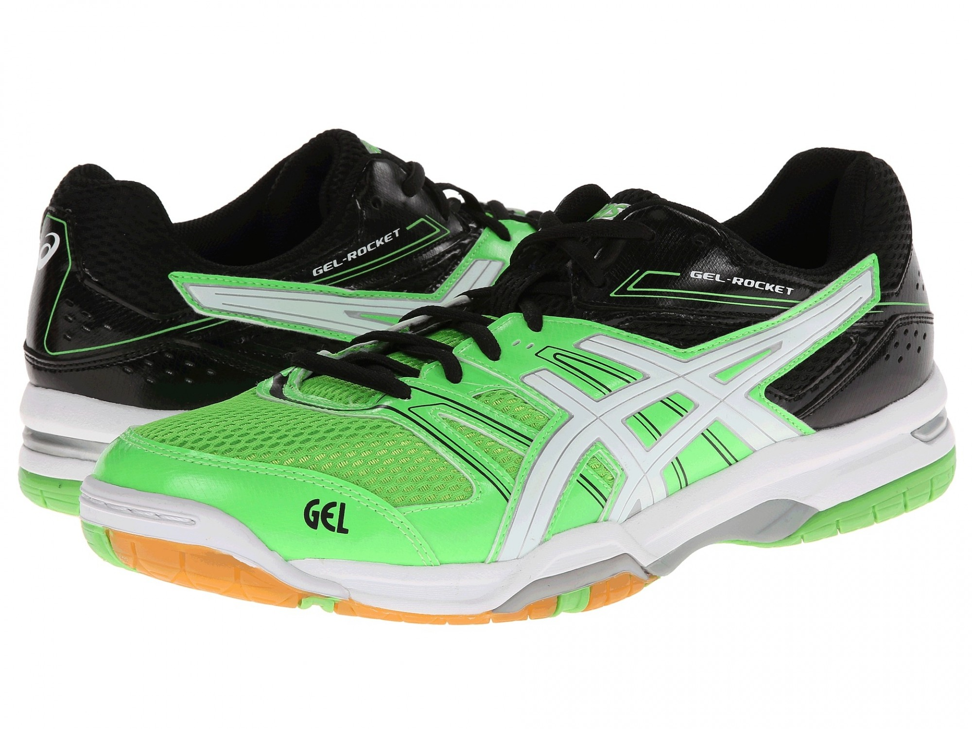 2d710b25 ASICS GEL-Rocket 7 (Neon Green/ White/ Black) Волейбольные кроссовки ...