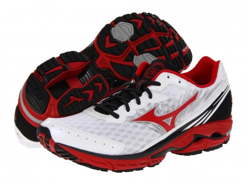 Mizuno Wave Rider 16 (White/ Red)
