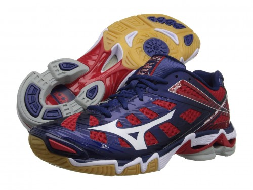 Женские Mizuno Wave Lightning RX3 (Navy/ Red)