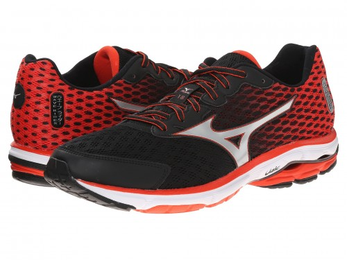 Mizuno Wave Rider 18 (Black/Orange/Silver)