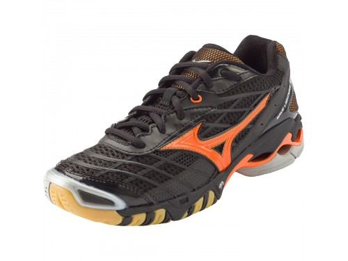 Женские Mizuno Wave Lightning RX (black/ orange)