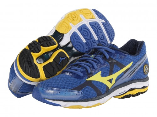 Mizuno Wave Rider 17 (Olympian Blue/ Cyber Yellow/ Dress Blue )