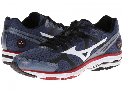 Mizuno Wave Rider 17 (Indigo/ White/ Cherry)