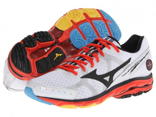 Mizuno Wave Rider 17 (White/ Black/ Fiesta)