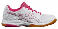 Женские ASICS GEL-Rocket 8 (White/Rouge Red/Silver)